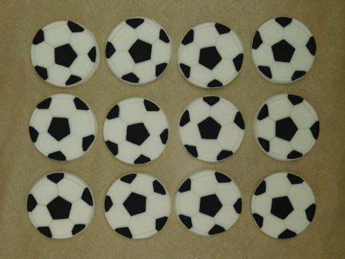 12 Football Cupcake Toppers